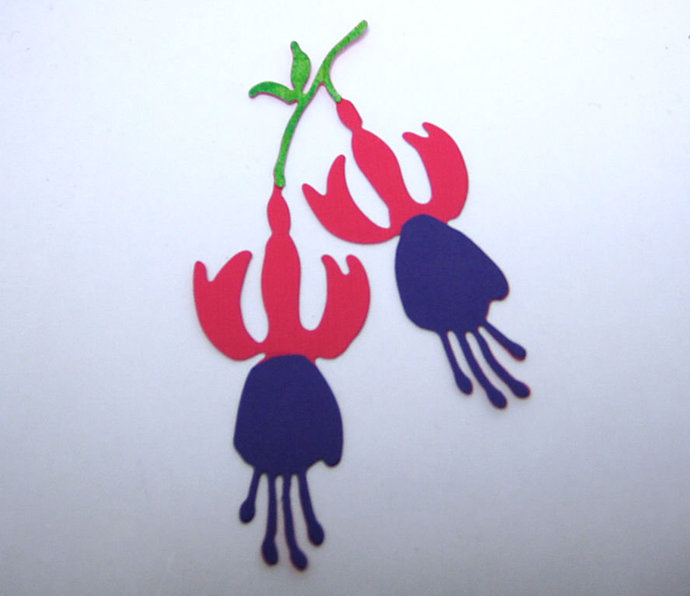 Fuchsia Flower Metal Cutting Die