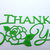 Thank You w/ Rose Cutting Die Word Text Script