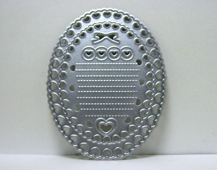 Hearts Bow Oval Metal Cutting Die