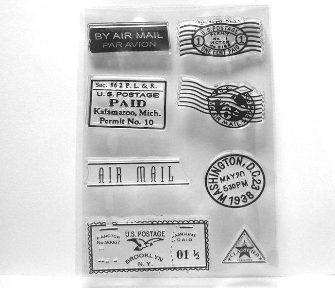 Postal Marks Clear Stamps