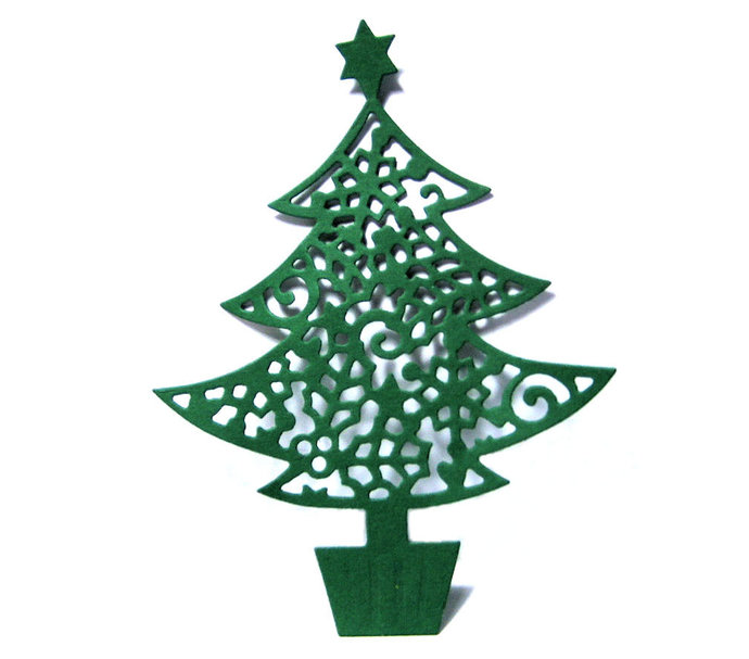 Christmas Tree with Star on Top Metal Cutting Die