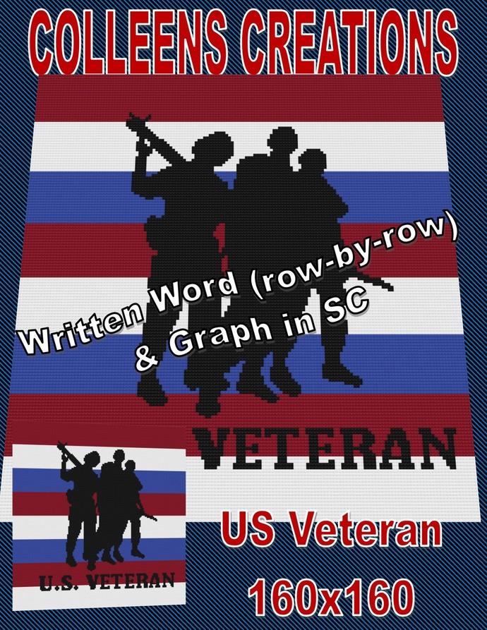 US Veteran Crochet Design 160x160