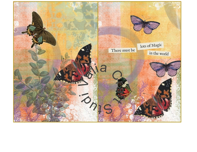 Secret Garden ADD on, Printable Journal kit. Instant Download.
