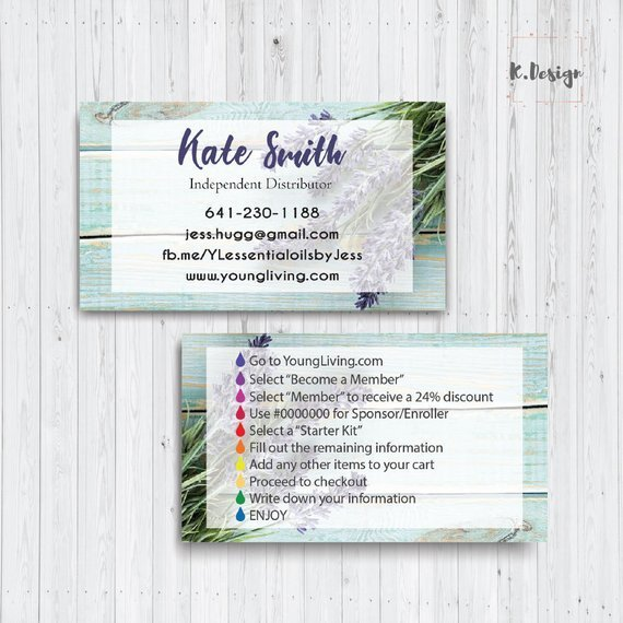 Young Living Business Card, Personalized Young Living Business Card, PRINTABLE