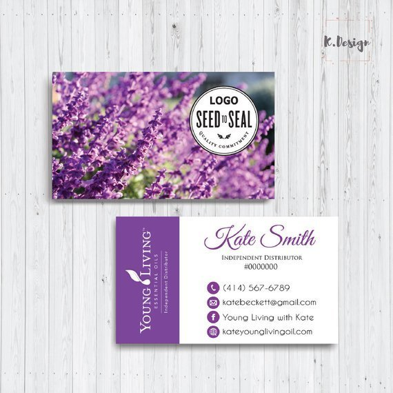 PRINTABLE Essential Oils Business Cards, Young Living Business Card,