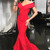 Gorgeous Off the Shoulder Red Mermaid Long Formal Evening Dress,Sexy Party