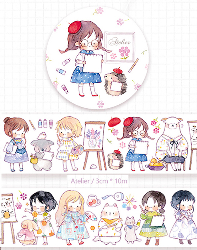 1 Roll of Limited Edition Washi Tape- Atelier