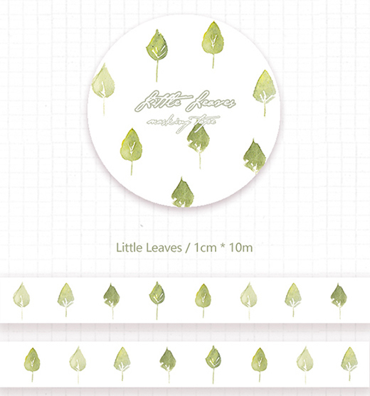 1 Roll of Limited Edition Washi Tape- Little Leaves