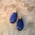 Dangle Blue Dragon Vein Agate Teardrop Earrings Wire wrapped Gem's from Knotted