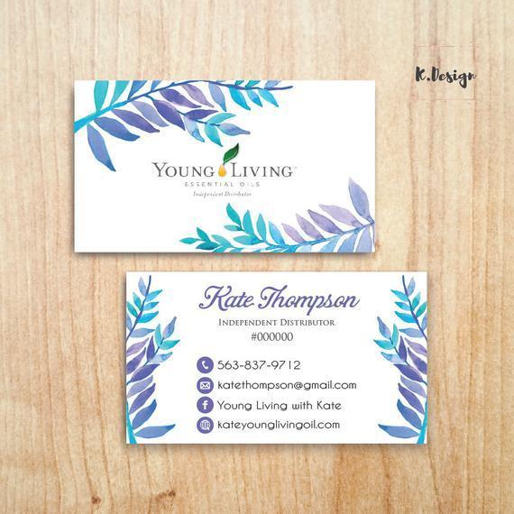 Essential Oil Business Cards, Young Living Business Cards, Personalized YLEO