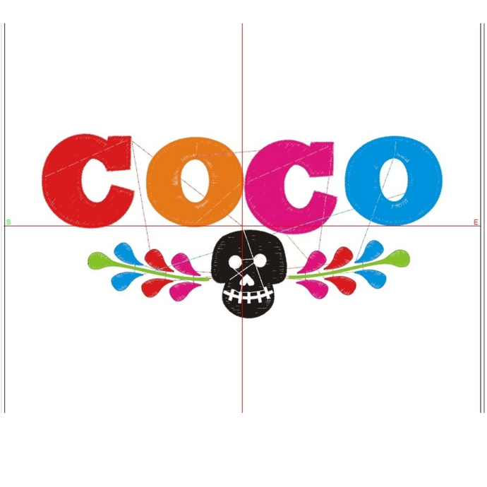 Coco Embroidery Machine Designs Pixar