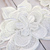 "Layered Embroidered Venice Lace Flower Applique - 5.5"" White"