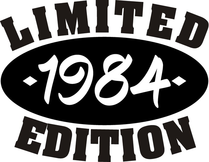 1984 Limited Edition with Date, Men's Birthday, Vintage SVG, birthday women, ask