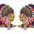 Native American Indian Patch Embroidered Iron on Patches Clothes Appliques Sew