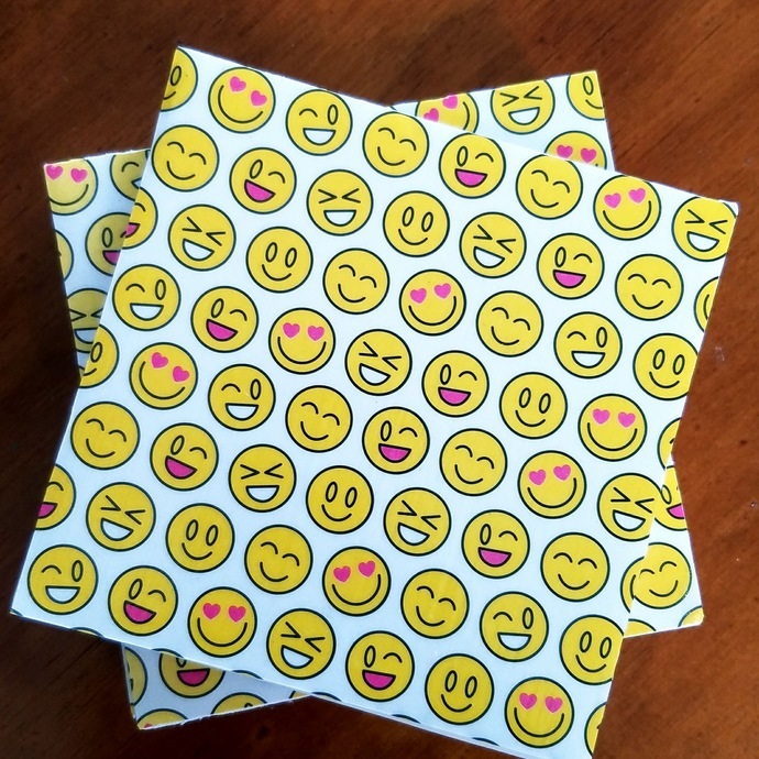 Emojis Tile Coasters