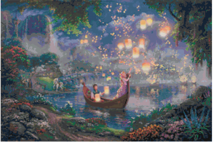 Tangled Art Cross Stitch Kit, Disney Cross Stitch Kit