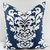 Premier Navy  & White In Berlin Print  Sofa Pillow cover. Throw pillow cover.