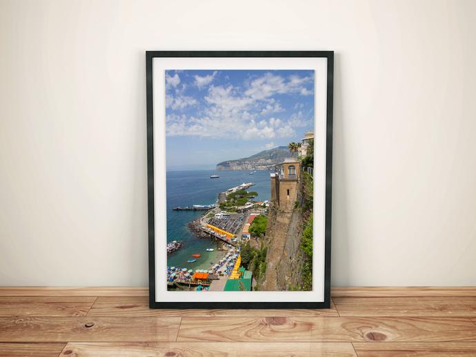 Coastal Print, Italy Wall Print, Laundry Room Art, Nautical Bedroom, Coastal
