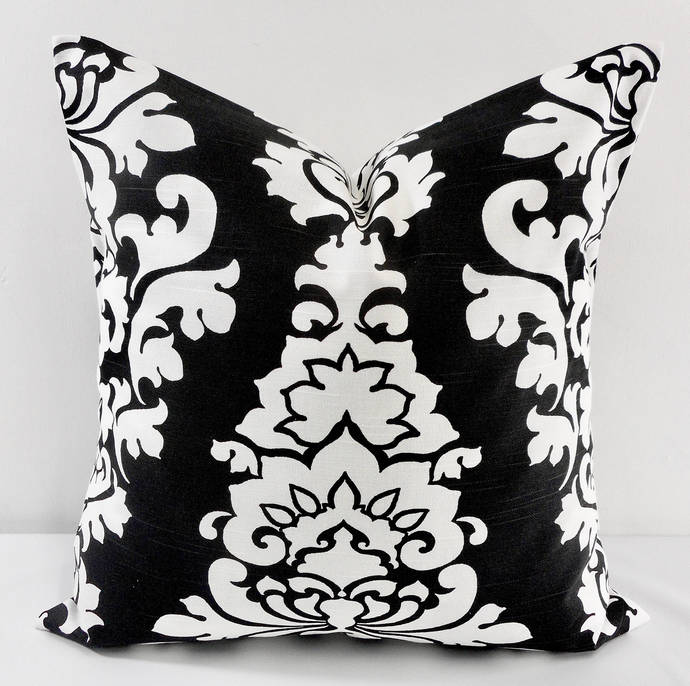 Shadow Black  & White In Berlin Print  Sofa Pillow cover. Throw pillow cover.