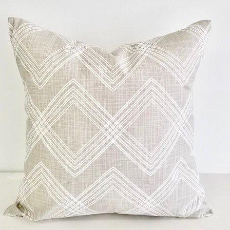 french grey  & white In Colton  print Print  Sofa Pillow cover. Throw pillow