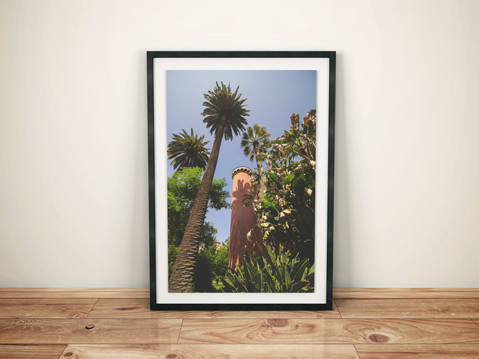 Palm Tree Print, Palm Leaf Wall Print, Banana Leaf, Tropical Plant Decor, Banana