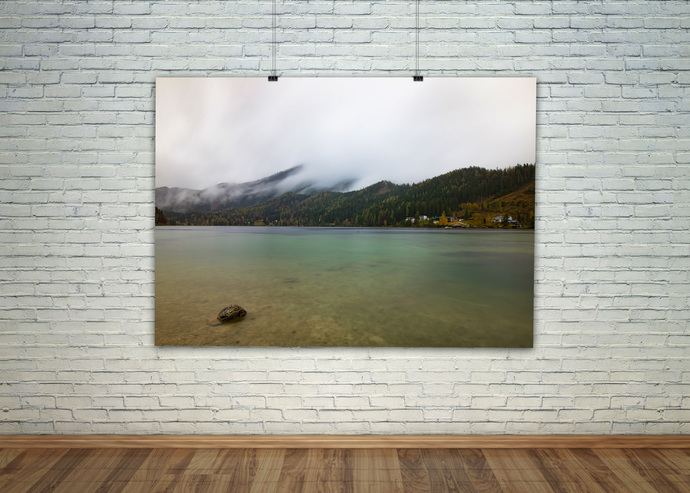 Scandinavian Print, Nordic Art, Lake House Decor, Lake Wall Print, Still Life