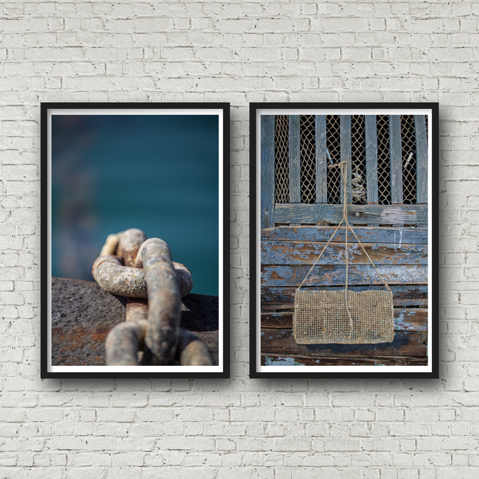 Nautical Decor, Set Of 2 Prints, Coastal Wall Art, Lake House Decor, Laundry