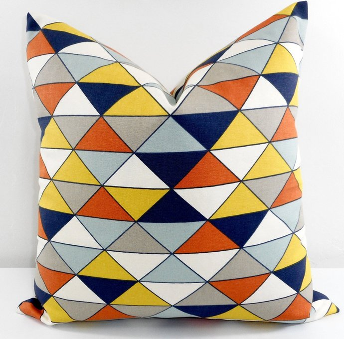 Dimension Geometric Print. Sofa Pillow cover. Throw pillow cover. Euro pillow