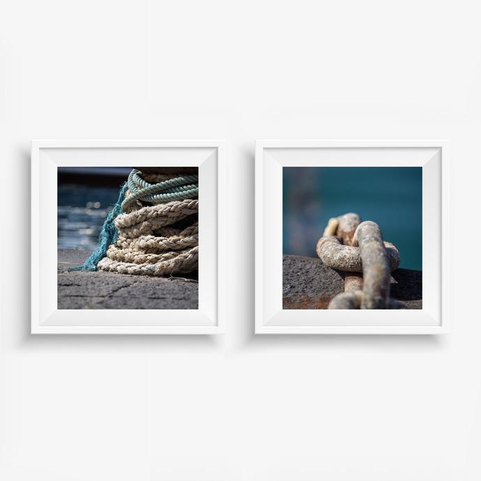 Nautical Decor, Set Of 2 Prints, Lake House Decor, Laundry Room Decor, Nautical