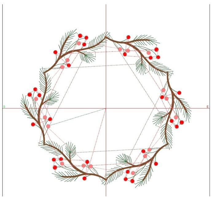 Christmas Frame Embroidery machine designs pes