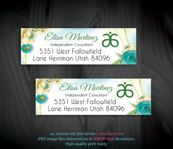 Arbonne Consultant Cards, Personalized Return Address Labels, Arbonne Address
