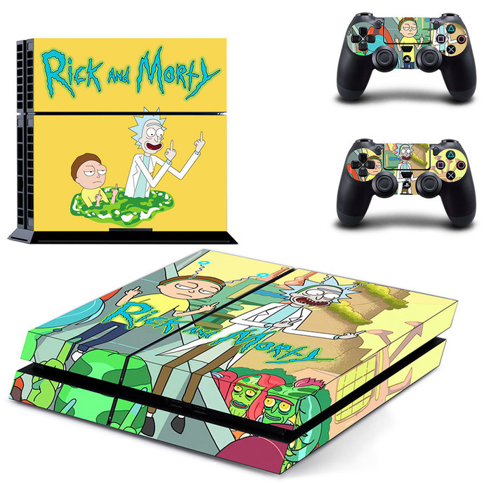 Rick and Morty  PS4 Skin for PlayStation 4 Console & Controllers