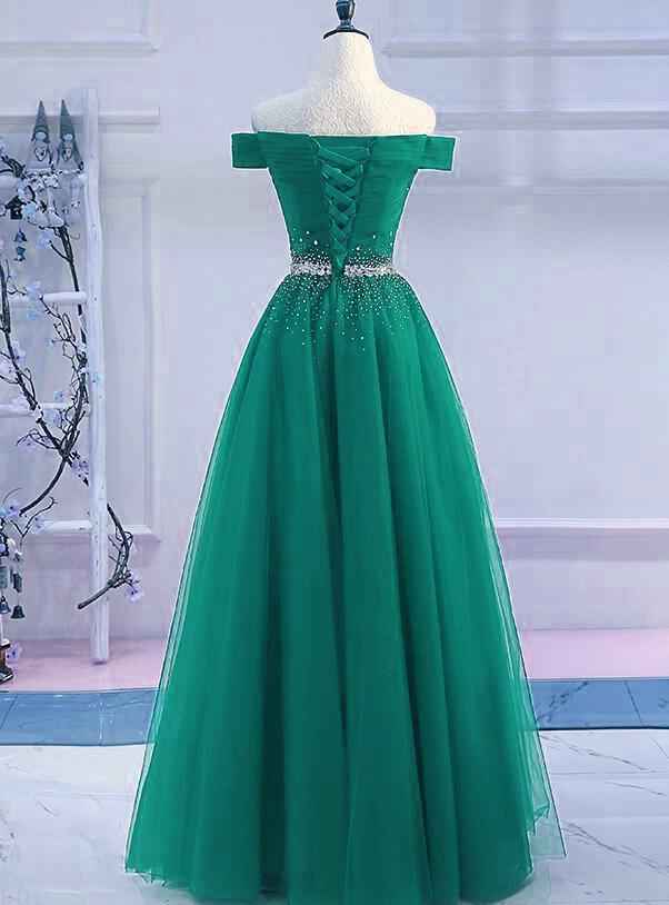 Handmade Green Long Prom Dress, Prom Dress 2019, Formal Dress