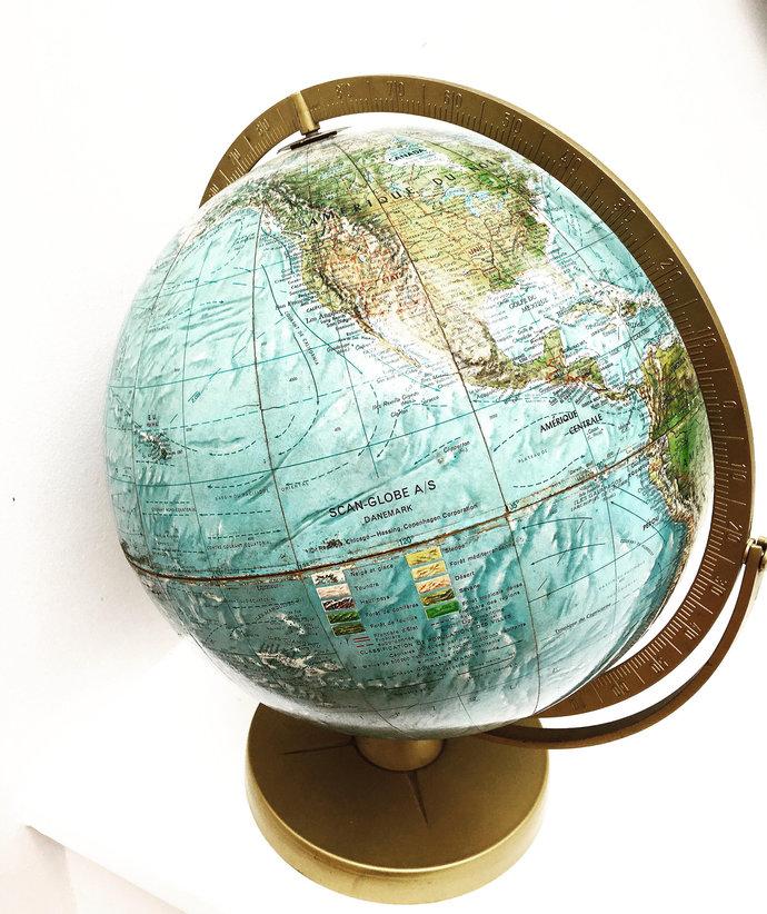world globe large vintage globe on by vintage chic brussels on zibbet