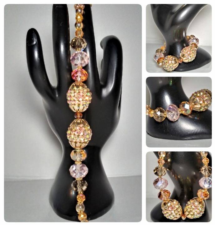 Disco Ball handmade Bracelet