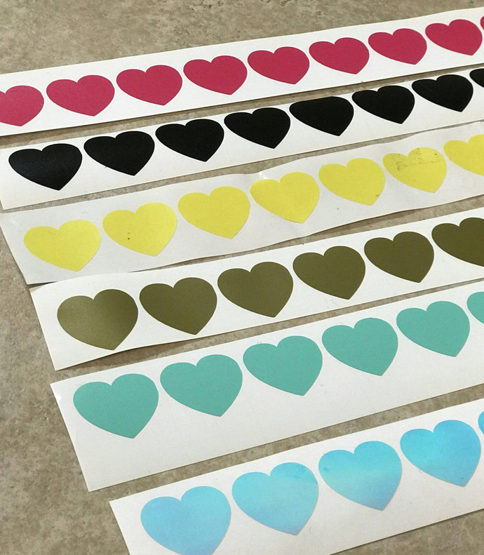 Heart Decal - DIY Decal /  Sticker - Vinyl Heart Cut Out