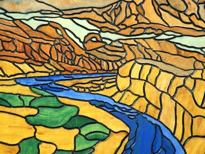 Southwest Canyons, Wood Wall Art, Sculpture Landscape