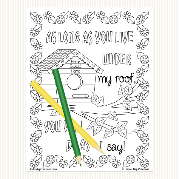 Classic Mom Sayings Set 3 _Printable Adult Coloring Pages