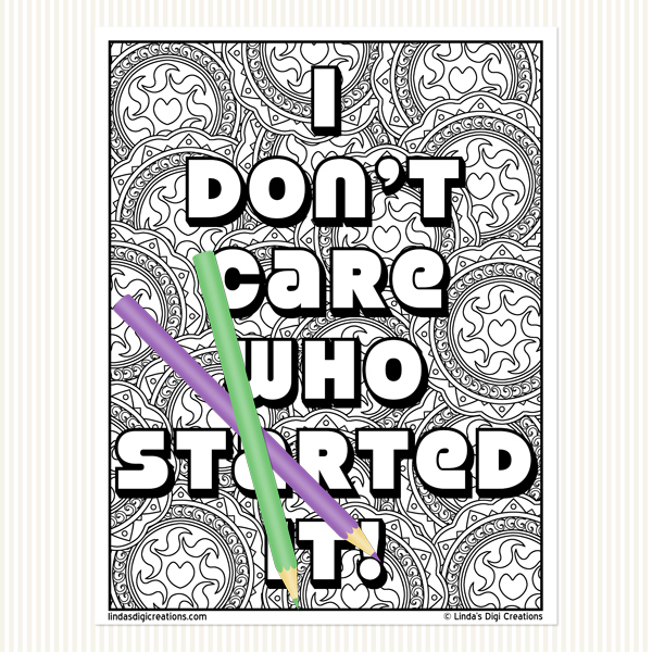 Classic Mom Sayings Set 4 _Printable Adult Coloring Pages
