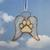 Stained Glass Dog Paw Ornament, Handmade, Pet Memorial, Dog Angel, Pet Loss