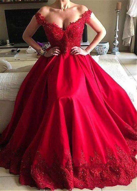 Long Evening Dresses,Prom Dresses Long Sleeve Red Prom Dresses,