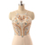 Custom Made Beige Halter Neckline Beaded Crystal Adorned Long Chiffon Evening