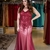 Mermaid Burgundy Prom Dress, long prom dress, evening dress,Ball Gown,prom