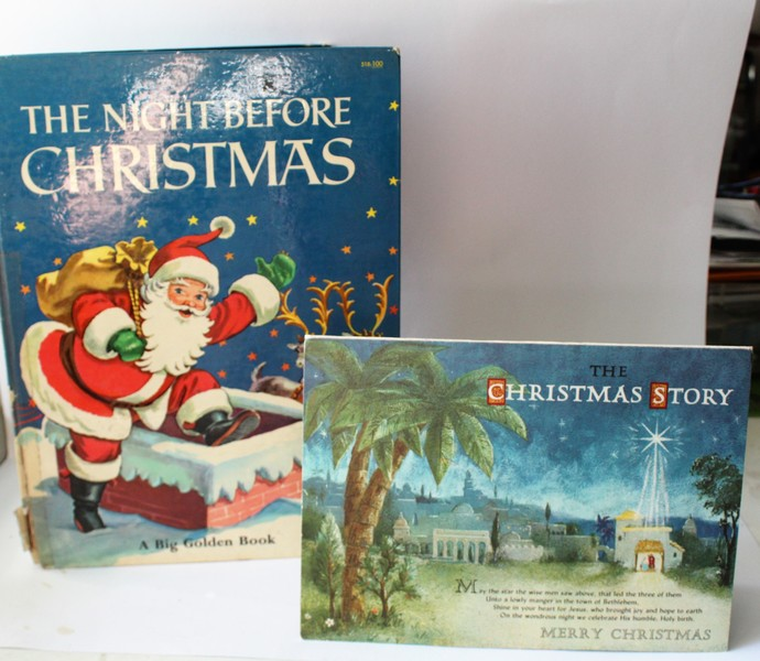 The Christmas Story Book.2 Vintage Books The Night Before Christmas A Big Golden Book 1955 The Christmas Story Pop Up Book By Hallmark The Night Before Christma
