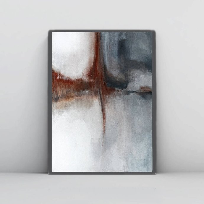 Neutral Abstract Art, Printable Abstract Art, Neutral Wall Art, Watercolor