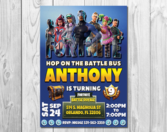 Fortnite Birthday Invitation Party Invite Printable