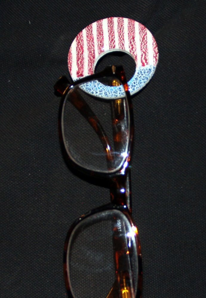 Brooch or Glasses Holder Pendant - hand made and one of a kind jewelry art, by