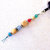 Zipper Pull or Charm, beaded with Natural Wood Tones plus Color and Sparkle