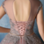 Vintage Tulle & Satin High Collar Ball Gown Prom Dresses With Beaded Lace