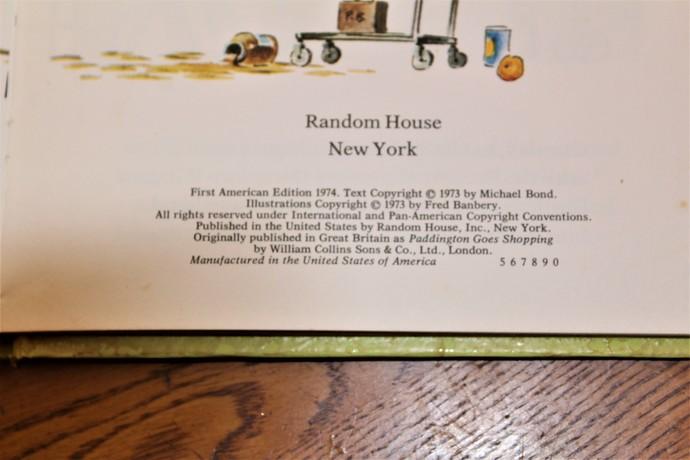1st American Edition Paddington's Lucky Day
